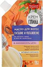 Düfte, Parfümerie und Kosmetik Nährendes und feuchtigkeitsspendendes Haaröl mit weißem Ton und Sanddornöl - Fito Kosmetik Volksrezepte