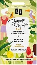 Düfte, Parfümerie und Kosmetik 2in1Exfolierende Creme-Maske für das Gesicht mit Papaya und Ananas - AA Voyage Voyage 2 In 1