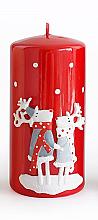 Düfte, Parfümerie und Kosmetik Dekorative Kerze rot 7x10 cm - Artman Reindeers