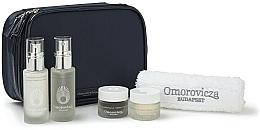 Düfte, Parfümerie und Kosmetik Gesichtspflegeset - Omorovicza Essentials (Gesichtstonikum 30ml + Reinigungsbalsam für das Gesicht 15 ml + Gesichtscreme 15ml + Gesichtscreme 15ml + Handtuch + Kosmetiktasche)