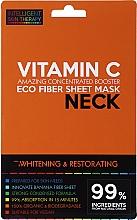 Düfte, Parfümerie und Kosmetik Aufhellende und regenerierende Tuchmaske für den Hals mit Vitamin C - Beauty Face IST Whitening & Restorating Neck Mask Vitamin C