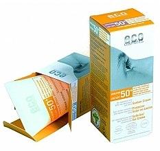 Düfte, Parfümerie und Kosmetik Sonnenschutzcreme mit Granatapfel- und Sanddornextrakt SPF 50+ - Eco Cosmetics Suntan Cream SPF 50+
