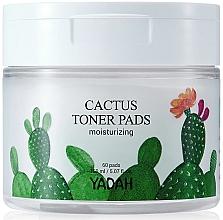 Düfte, Parfümerie und Kosmetik Feuchtigkeitsspendende Gesichtspatches mit Kaktusextrakt - Yadah Cactus Moisturizing Toner Pads