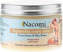 Düfte, Parfümerie und Kosmetik Regenerierende Körperbutter mit Kakao & Shea nach dem Sonnenbad - Nacomi Sunny Regenerating Creamy Butter