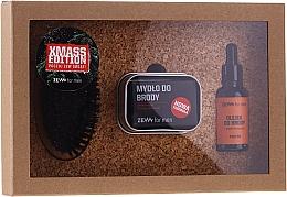 Düfte, Parfümerie und Kosmetik Bartpflegeset für Männer - Zew For Men Set (Hanföl für Bart 30ml + Natürliche Bartseife 85ml + Metall Seifendose 1 St. + Bart- und Schnurrbartbürste 1 St.)