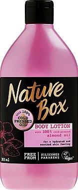 Feuchtigkeitsspendende Körperlotion mit Mandelöl - Nature Box Almond Oil