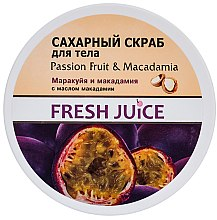 Düfte, Parfümerie und Kosmetik Zuckerpeeling für den Körper mit Passionsfrucht und Macadamia - Fresh Juice Passion Fruit & Macadamia