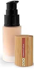 Düfte, Parfümerie und Kosmetik Seidige Foundation mit Bambusblatt-Hydrolat, Bio-Süßmandelöl und Sheabutter - Zao Soie de Teint Silk Foundation