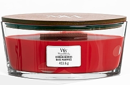 Düfte, Parfümerie und Kosmetik Duftkerze im Glas - WoodWick Ellipse Scented Candle Crimson Berries
