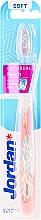 Düfte, Parfümerie und Kosmetik Zahnbürste weich Lachs mit Blättern - Jordan Individual Reach Soft