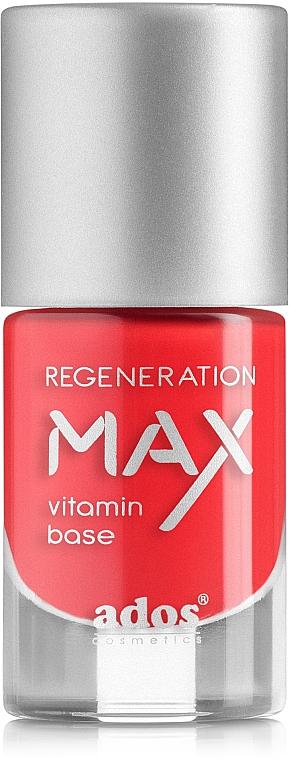Stärkender und regenerierender Nagellack mit Vitaminen - Ados Max Regeneration Vitamin Base
