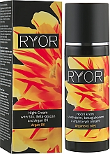 Düfte, Parfümerie und Kosmetik Nachtcreme mit Seide, Beta-Glucan und Arganöl - Ryor Night Cream With Silk, Beta-Glucan And Argan Oil