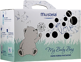 Düfte, Parfümerie und Kosmetik Körperpflegeset - Mustela My Baby Bag Set (Reinigungswasser 300ml + Schaumgel 200ml + Gesichtscreme 40ml + Körpercreme 50ml + Feuchttücher 25St. + Kosmetiktasche)