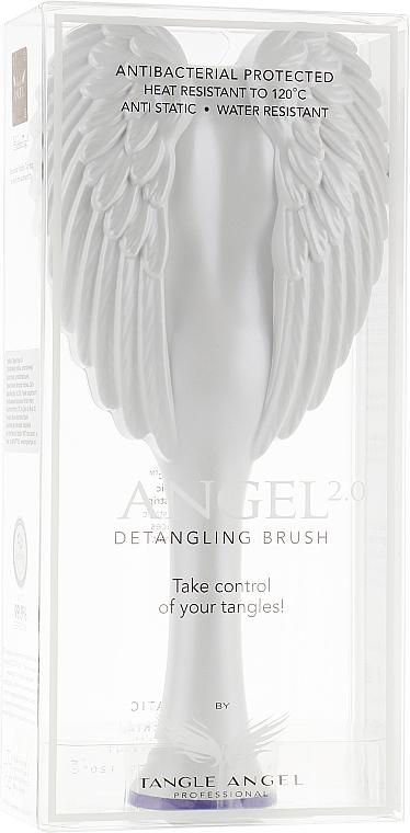 Entwirrbürste weiß 18,7 cm - Tangle Angel 2.0 Detangling Brush White