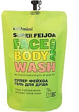 Düfte, Parfümerie und Kosmetik Tonisierendes und feuchtigkeitsspendendes Duschgel für Körper und Gesicht mit Feijoa-Extrakt - Cafe Mimi Super Feijoa Face And Body Wash (Doypack)