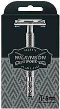 Düfte, Parfümerie und Kosmetik Rasierhobel mit 5 doppelseitigen Ersatzklingen - Wilkinson Sword Classic Double Edge