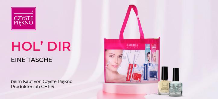 Beim Kauf von Czyste Piękno Produkten ab CHF 6 erhältst Du eine Tasche geschenkt
