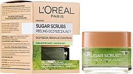 Düfte, Parfümerie und Kosmetik Zuckerpeeling mit natürlichem Traubenkernöl für das Gesicht - L'Oreal Paris Sugar Scrubs