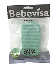 Düfte, Parfümerie und Kosmetik Peelingschwamm für Gesicht und Körper mit Konjak-Wurzel und Minze - Bebevisa Konjac Sponge