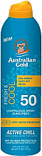 Düfte, Parfümerie und Kosmetik Erfrischendes und kühlendes Sonnenschutzspray für den Körper SPF 50 - Australian Gold Fresh & Cool Continuous Spray Sunscreen Spf50