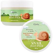Düfte, Parfümerie und Kosmetik Feuchtigkeitsspendende, beruhigende und glättende Nachtmaske mit Schneckensekretfiltrat und Aloe Vera - Esfolio Snail Shape Memory Jelly Pack