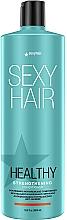 Düfte, Parfümerie und Kosmetik Regenerierende und festigende Haarspülung mit Aloe Vera und Mangobutter - SexyHair HealthySexyHair Strengthening Conditioner