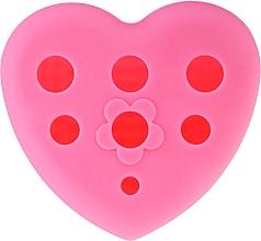 Düfte, Parfümerie und Kosmetik Silikonbürste zum Reinigen und Trocknen von Make-up Pinseln mit Ständer rosa - Lash Brow