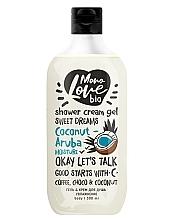 Düfte, Parfümerie und Kosmetik Feuchtigkeitsspendendes Creme-Duschgel mit Schokolade und Kokosnuss - MonoLove Bio Coconut-Aruba Moisture