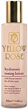 Düfte, Parfümerie und Kosmetik Tonisierende und feuchtigkeitsspendende Gesichtslotion mit Hyaluronsäure und Blütenextrakten - Yellow Rose Hyaluronic Toning Lotion