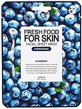 """Düfte, Parfümerie und Kosmetik Reinigende tonisierende Tuchmaske """"Blaubeere"""" für alle Hauttypen - Superfood For Skin Facial Sheet Mask Blueberry Energizing"""