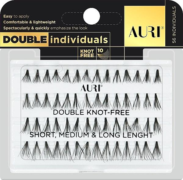 Künstliche Wimpernbüschel - Inter-Vion Auri Double Individuals Mix — Bild N1