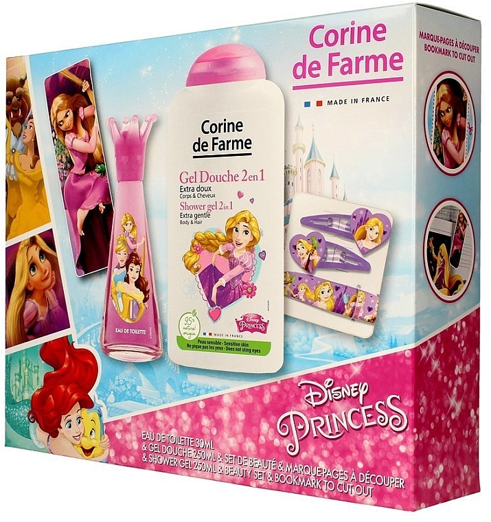 Corine de Farme Princess - Duftset (Eau de Toilette 30ml + Duschgel 250ml + Accessories)