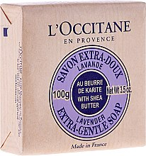 Düfte, Parfümerie und Kosmetik Kosmetikseife mit Sheabutter und Lavendel - L'occitane Shea Butter Extra Gentle Soap-Lavender