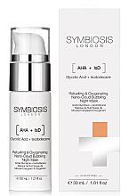 Düfte, Parfümerie und Kosmetik Sauerstoffreiche Gesichtsmaske für die Nacht mit Glykolsäure - Symbiosis London Refuelling & Oxygenating Nano-Cloud Bubbling Night Mask