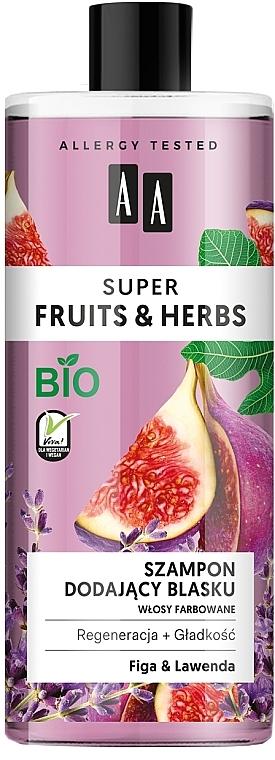 Shampoo für mehr Glanz mit Feige und Lavendel - AA Super Fruits & Herbs Shampoo Fig & Lavender