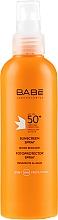 Düfte, Parfümerie und Kosmetik Beruhigendes Sonnenschutzspray SPF 50+ - Babe Laboratorios Sunscreen Spray SPF 50+