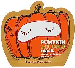 Düfte, Parfümerie und Kosmetik Pflegende Gesichtsmaske mit Kürbis und Gold für strahlende Haut - Too Cool For School Pumpkin 24k Gold Mask
