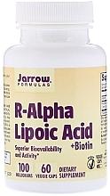 Düfte, Parfümerie und Kosmetik Nahrungsergänzungsmittel Alpha-Liponsäure mit Biotin 100 mg in Kapselform - Jarrow Formulas R-Alpha Lipoic Acid + Biotin