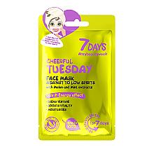 Düfte, Parfümerie und Kosmetik Tonisierende Gesichtsmaske mit Melonen- und Minzextrakt - 7 Days Cheerful Tuesday