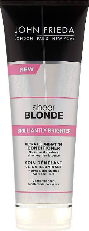 Haarspülung zum Beleben von blonder Haarfarbe mit perlmutternem Glanz - John Frieda Sheer Blonde Brilliantly Brighter Conditioner