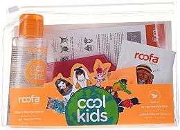 Düfte, Parfümerie und Kosmetik Körperpflegeset - Roofa Cool Kids (Händedesinfektionsmittel mit Aloe 100ml + Shampoo-Gel mit Aloe Vera 3g + Schutzmaske rot 1St.)