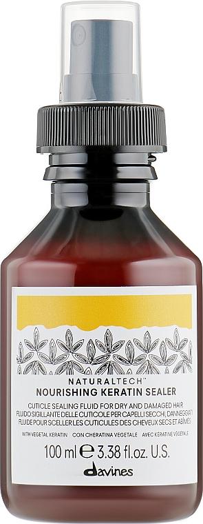 Nährendes Haarfluid mit Keratin für trockenes und geschädigtes Haar - Davines Natural Tech Nourishing Keratin Booster