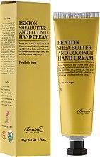 Düfte, Parfümerie und Kosmetik Handcreme mit Sheabutter und Kokosöl - Benton Shea Butter and Coconut Hand Cream