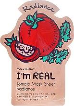 Düfte, Parfümerie und Kosmetik Revitalisierende und antioxidative Tuchmaske mit Vitamin E und Tomaten-Extrakt - Tony Moly I'm Real Tomato Mask Sheet