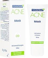 Düfte, Parfümerie und Kosmetik Mattierende Gesichtsmaske mit Kieselsäure für fettige und zu Akne neigende Haut - Novaclear Acne Mask