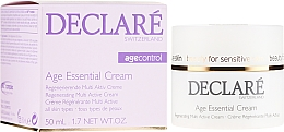 Düfte, Parfümerie und Kosmetik Regenerierende Anti-Aging Gesichtscreme mit Pfingstrosen-Extrakt - Declare Age Control Age Essential Cream