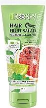 Düfte, Parfümerie und Kosmetik Pflegendes und regenerierendes Shampoo mit Minze, Limetten- und Grapefruitsaft - Nature of Agiva Roses Hair Fruit Salad Shampoo