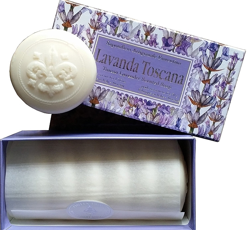 Toskana Lavendel Seifen-Set - Saponificio Artigianale Fiorentino Lavender Toscana (Seife/6x50g)