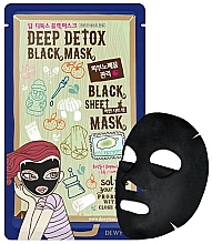 Düfte, Parfümerie und Kosmetik Detox-Tuchmaske für das Gesicht - Dewytree Deep Detox Black Sheet Mask
