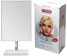 Düfte, Parfümerie und Kosmetik Kosmetik-Standspiegel im Rahmen auf Metallbein 16x30 cm - Titania